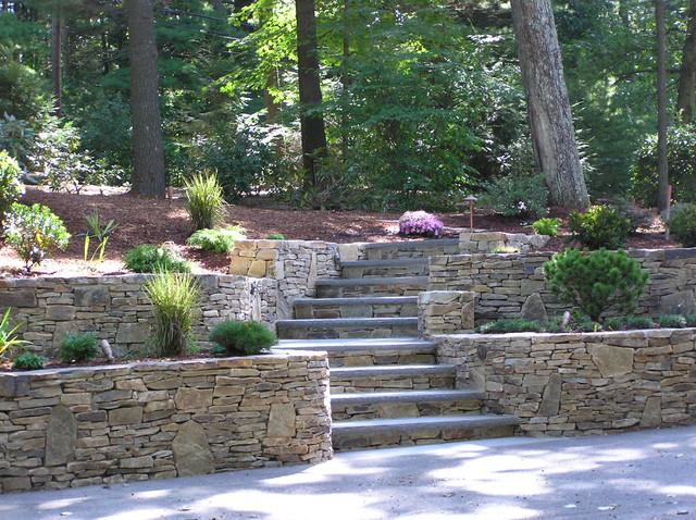 A new and inviting hillside entrance traditional for Garden design hillside