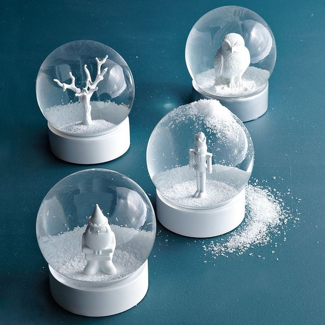 Snow Globes modern-holiday-accents-and-figurines