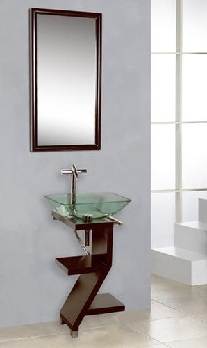 "Modern 16.5"" Zen Wood Vanity Set modern-bath-products"