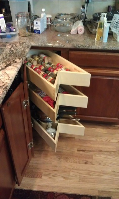 Glide Around Lazy Susan - Shelves and Drawers in your corner space! - Traditional - boston - by ...