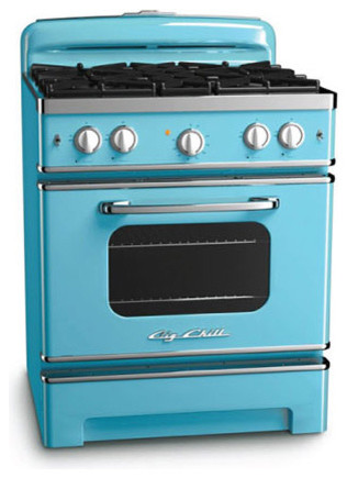 Big Chill Stove 30 in. wide - Beach Blue modern-gas-ranges-and-electric-ranges