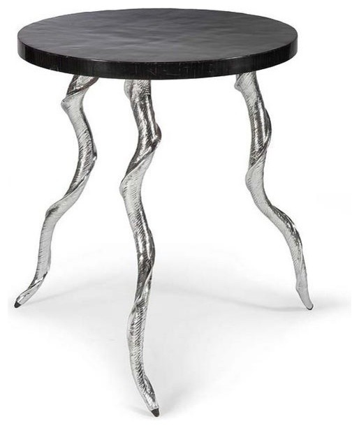 Regina andrew kudo silver and black horn table for Coffee tables regina