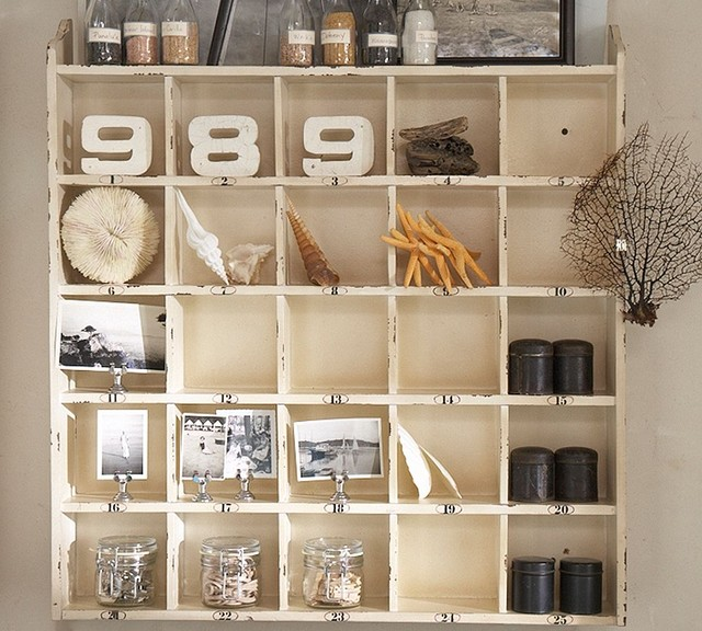 Cubby Organizer - Weathered White eclectic storage units and cabinets