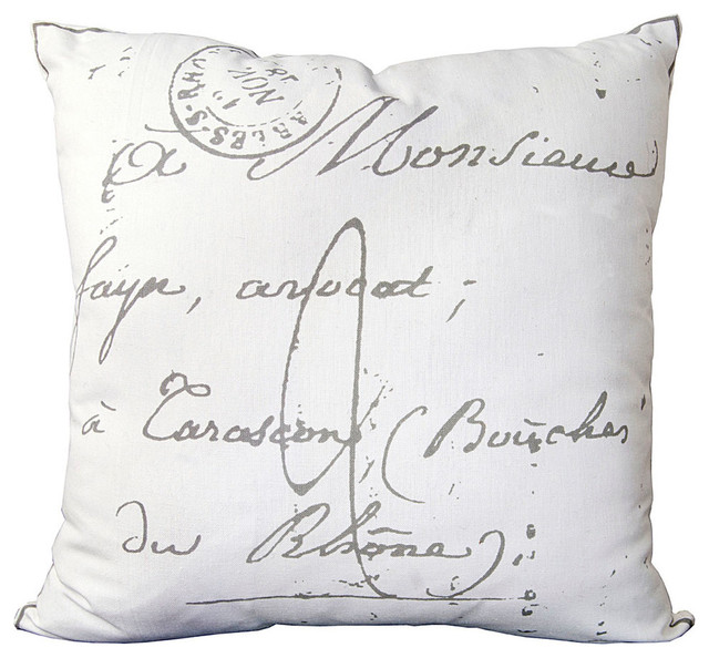 Throw Pillows With French Script : French Script Pillow - 18