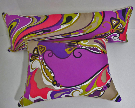 Perky oblong Pillow  from Emilio Pucci Scarf - 12x33
