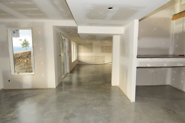 basement concrete floors naturally look amazing simple with sealer