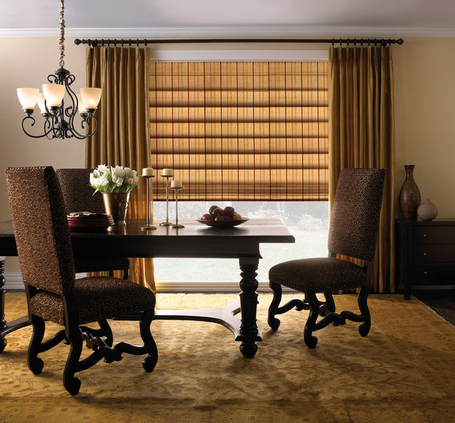Levolor Classic Roman Shade Traditional Dining Room Other Metro By