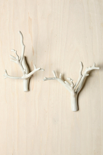 Branch Hook White Modern Wall Hooks By Urban Outfitters