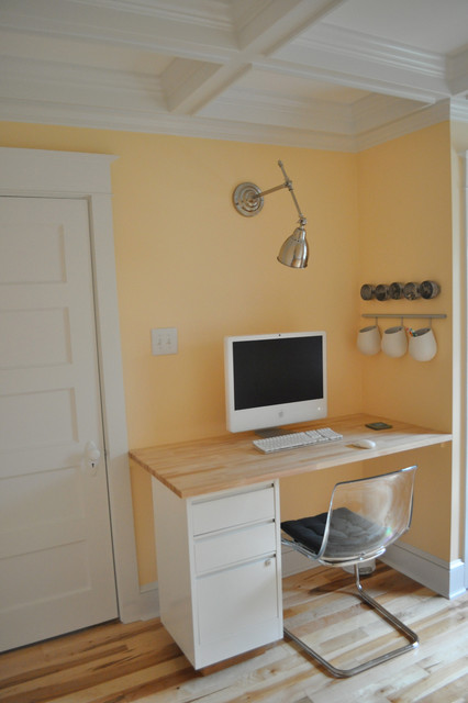built-in desk traditional home office