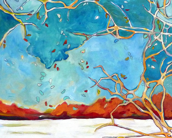 Fine Art- Paintings of Trees - acrylic on canvas, ©Nicky Torkzadeh