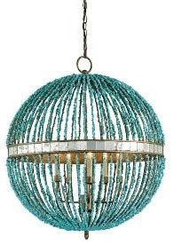 Turquoise Orb Chandelier chandeliers
