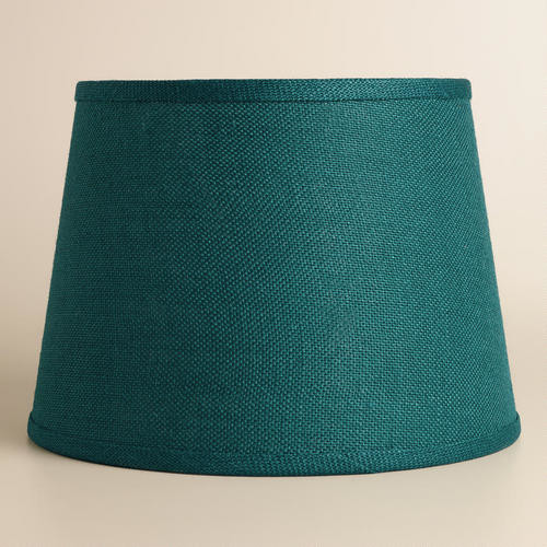 Teal Burlap Table Lampshade Table Lamps