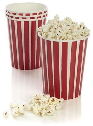 Set of 4 Popcorn Cups contemporary-everyday-glassware