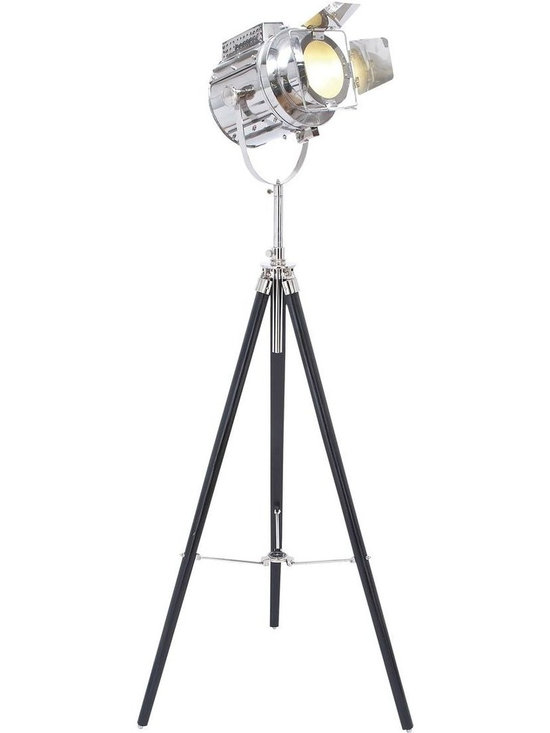 Benzara - Wood Tripod Spot Light with Protective Metal Fixtures - This elegant tripod stand is an essential addition to your photography checklist. The spotlight is deftly placed on a tripod stand to make handling and operating much easier. The tripod stand is designed from high quality wood and comes with adjustments in each leg to achieve the desired height. Made of high quality metal, the bulb is made sure it held well. Bringing a powerful and effective lighting effect to your favorite shooting spots and settings, this tripod spotlight is a brilliant purchase. The lamp shade is made to cover the bulb in such a way that the exact lighting effect is achieved by filtering unwanted streaks of light. Clear radiation of light is ensured with an effective glass covering over the bulb.