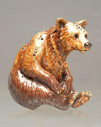 Jay Strongwater Bart Bear Figurine traditional-artwork
