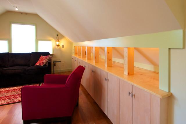"The ""Garage Mahal"" modern-family-room"