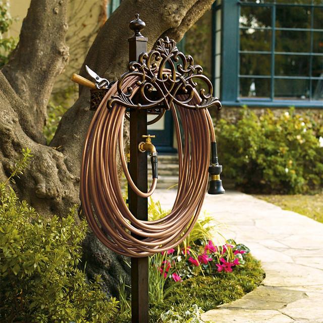 Classic Filigree Hose Station - Bronze traditional-irrigation-equipment