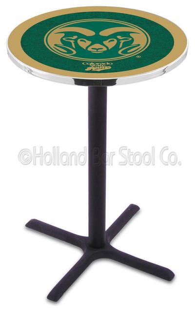 Holland Bar Stool L211 - Black Wrinkle Colorado State Pub Table contemporary-bar-tables