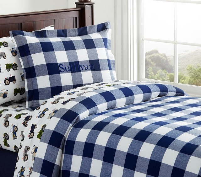 Sullivan Buffalo Check Duvet Cover Kids Bedding San