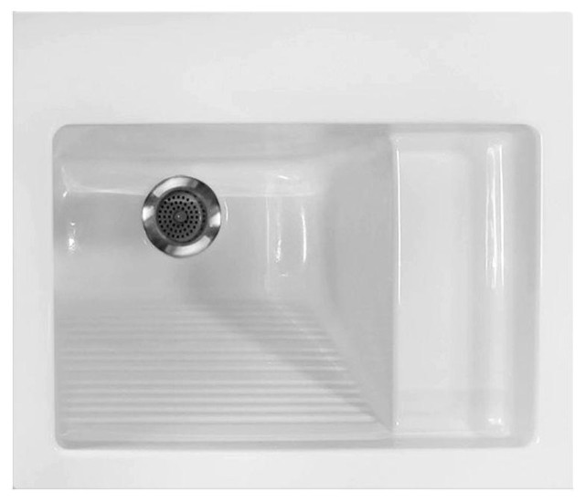 Systems Utility Sinks 21 in. x 26 in. Acrylic Drop-in Laundry Sink ...