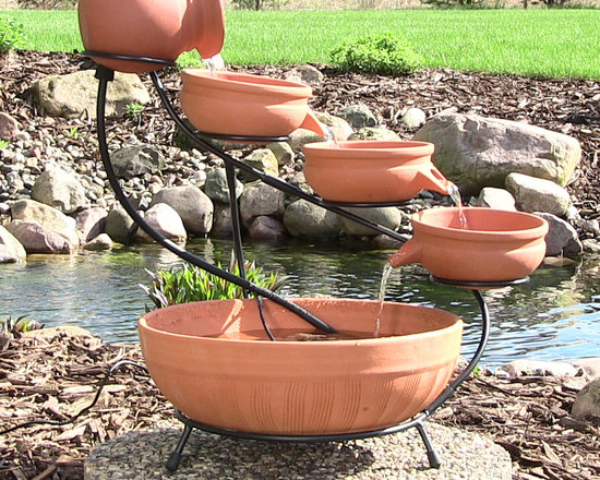 Terracotta Cascade Solar Fountain -