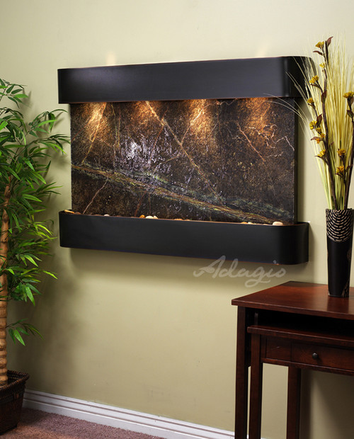 Marble Wall Water Features The Sunrise Springs With Green Rainfores Marble
