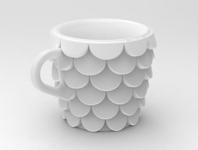 Fish Scales Cup eclectic-everyday-glasses