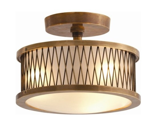 Arteriors Optic 3 Light Large Cast Brass/Glass Pendant - Optic 3 Light Large Cast Brass/Glass Pendant