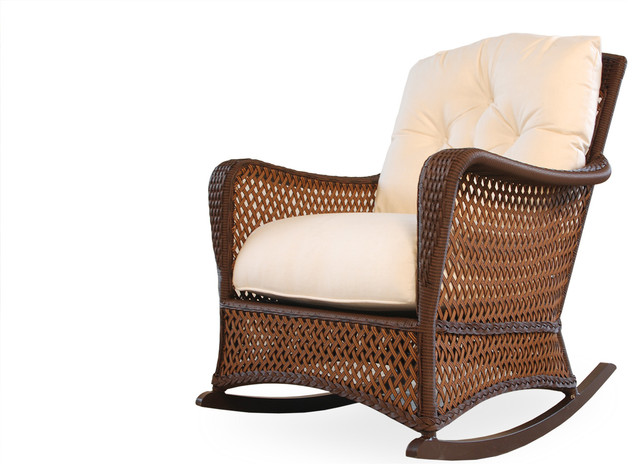 Lloyd Flanders Granad Traverse Porch Rocker eclectic-outdoor-lounge-chairs