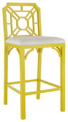 Lilly Pulitzer Home Boulevard Barstool traditional-bar-stools-and-counter-stools