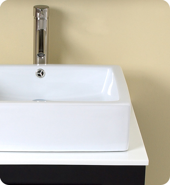 "23.75"" Modella Small Single Vessel Sink Vanity - Espresso (FVN6185ES) modern"