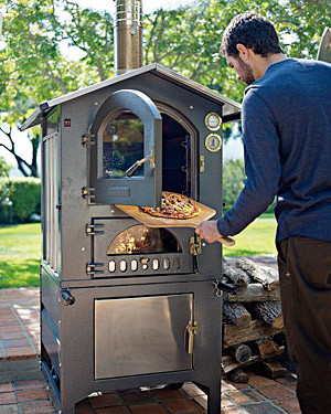 Fontana Gusto Wood-Fired Outdoor Oven traditional-outdoor-grills