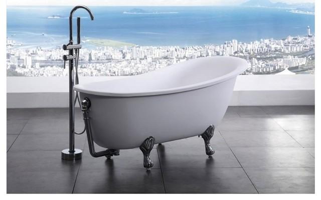"""Bellagio Luxury Modern Bathtub 64.5"""" modern-bathtubs"""
