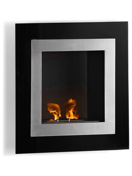Moda Flame - Roa Wall Mounted Ethanol Fireplace - The Roa has a decorative modern glass on a steel inner frame to create the effect of a lively piece of art.