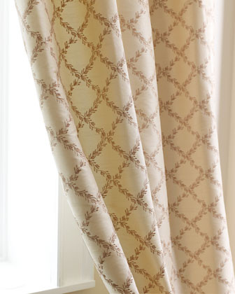Dian Austin Le Jardin Bed Linens Each 96L Trellis Curtain traditional-sheets