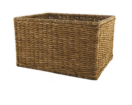 Large Woven Basket - This is a great catchall basket for magazines and newspapers. Wicker brings a touch of warmth to any setting.