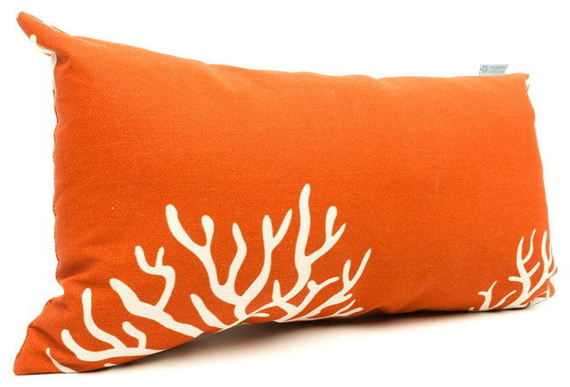 Burnt Orange Outdoor Throw Pillows : Outdoor Burnt Orange Coral Small Pillow - Modern - Outdoor Cushions And Pillows - by Majestic ...