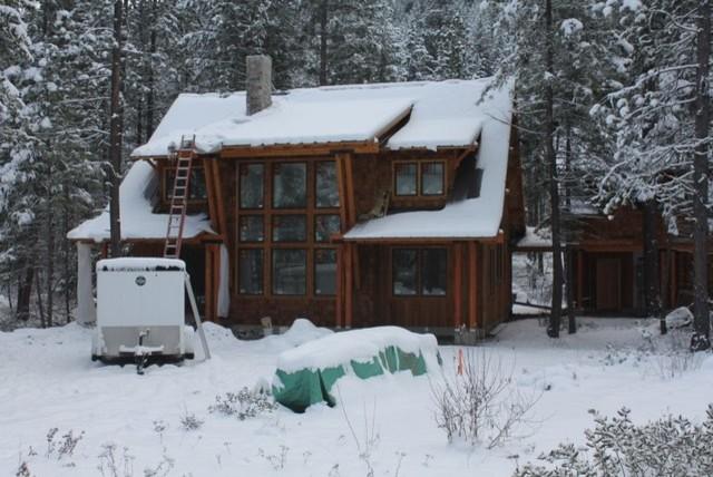 Winter Cabin 2 rustic-exterior