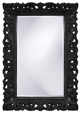 Howard Elliott Barcelona Mirror in Black contemporary mirrors