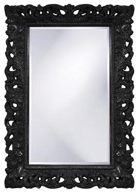 Barcelona Mirror, Glossy Black contemporary-mirrors