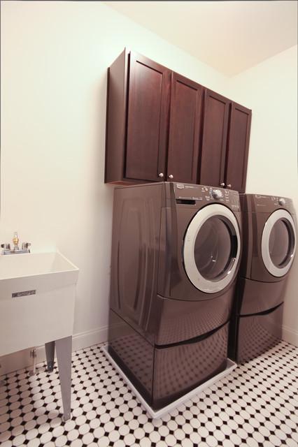 Bragg Street New Contruction No. 1 contemporary-laundry-room