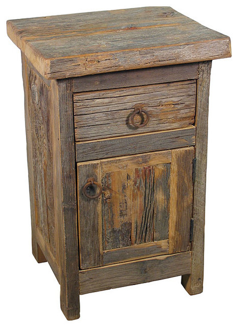 barn wood nightstand rustic nightstands and bedside