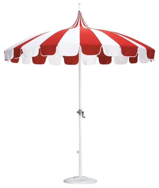 pagoda patio umbrella mediterranean outdoor umbrellas
