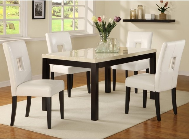 Archibald 5 Piece White Dining Set 60 In Modern Dining Tables