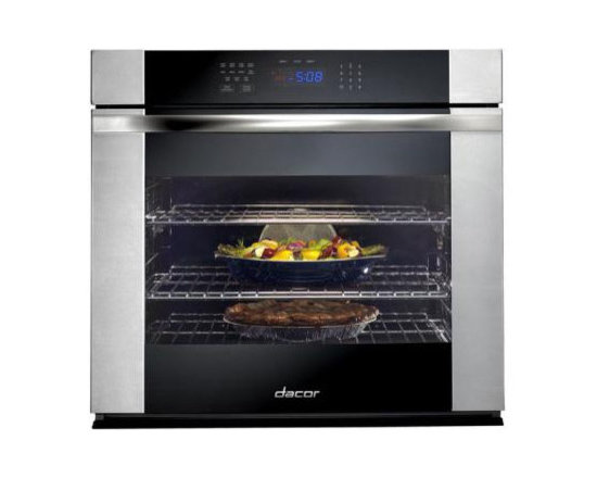 """Dacor 30"""" Single Electric Wall Oven, Black Glass W/ Stainless Trim 