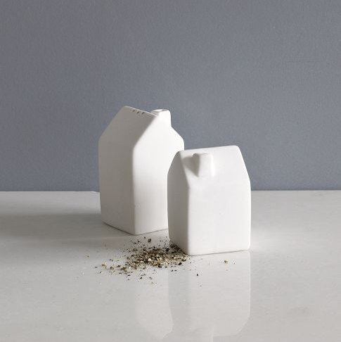 House Salt + Pepper Shakers contemporary serveware