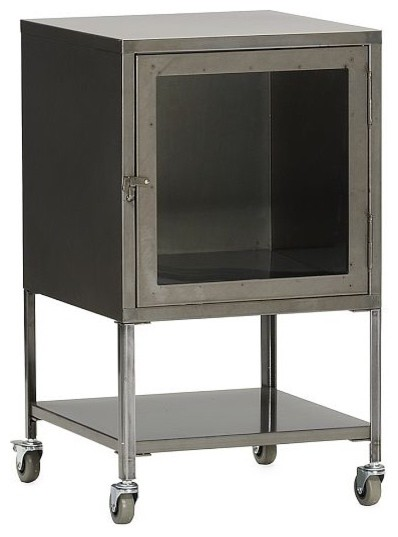 Short Industrial Metal Bath Cabinet - Eclectic - Bathroom Cabinets And Shelves - by West Elm