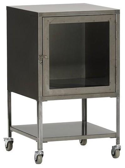 Short Industrial Metal Bath Cabinet - Eclectic - Bathroom ...
