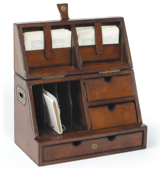 Secretary desktop organizer modern desks and hutches - Wooden desk organizer with drawers ...