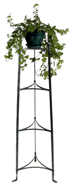 4 Tier Plant Stand Hammered Steel Traditional Plant Stands And Telephone Tables By Pot